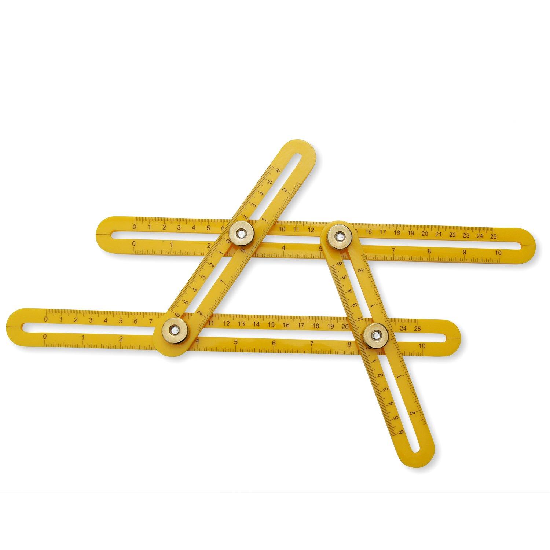Angleizer Template Tool Durable Metal Screws Multi Angle Folding
