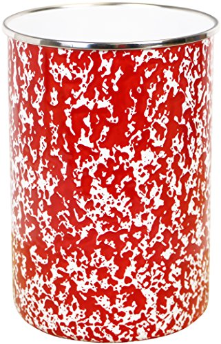 Calypso Basics by Reston Lloyd Marble Enamel on Steel Utensil Holder, Red (Red Utensil Holder Kitchen)