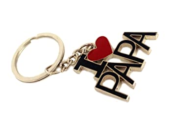 Discountproduct Key Chain With Word I Love Papa Full Metallic High Quality