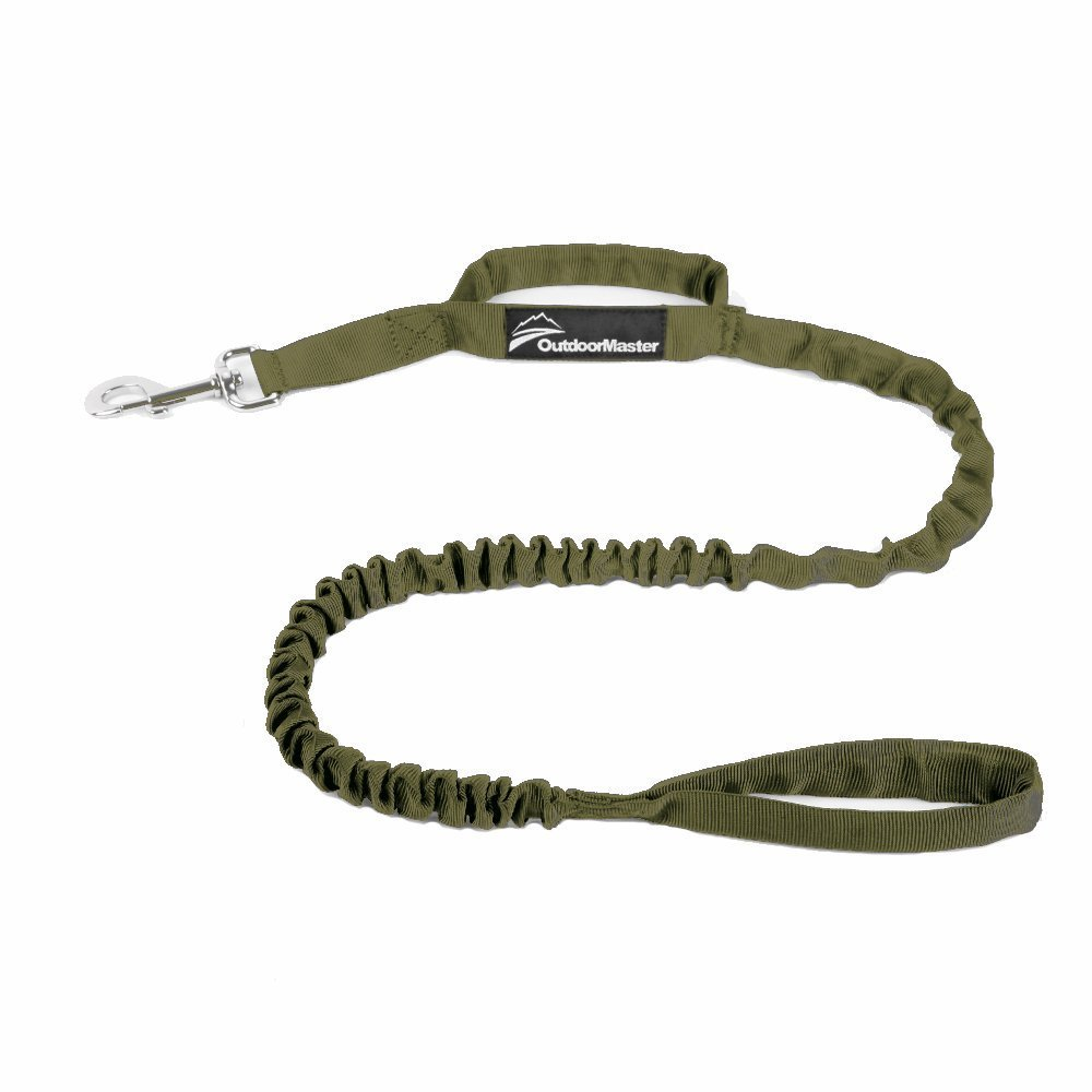 OutdoorMaster Bungee Dog Leash, Improved Dog Safety & Comfort