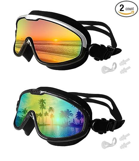 Amazon.com   MOTOEYE Swim Goggles Pack of 2 4f71016477