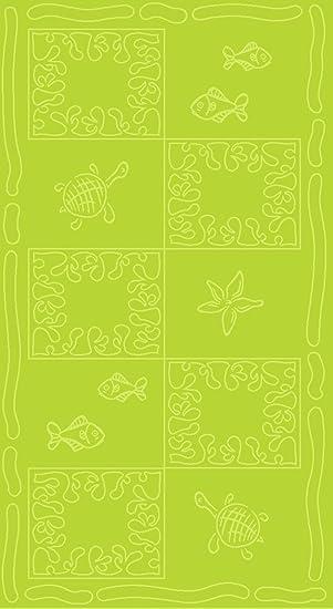 SO MY HOME - Toalla de playa de terciopelo, algodón puro, talla XXL 100 x 200 cm, diseño de tortugas, algodón (Verde): Amazon.es: Hogar