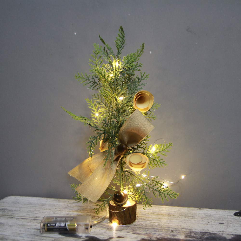 Clearance Tabletop Christmas Tree, Inkach Mini Lighted Desk Tops ...