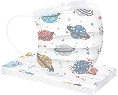 Weginte Kids Reusable Face Bandanas Cover Children Breathable Mouth Covering Protective Outdoor Activities with Cute Pattern
