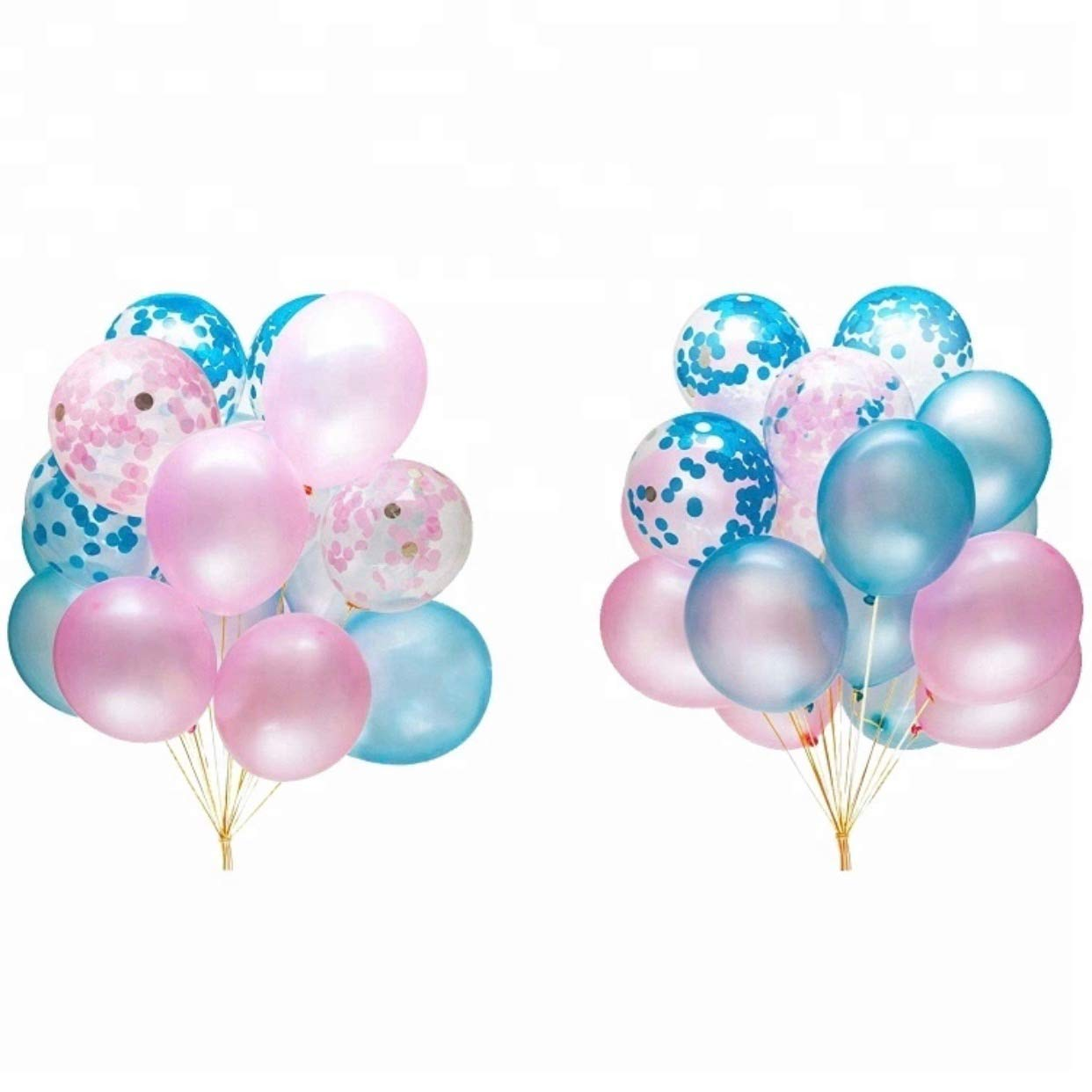 Gender Reveal Party Supplies - Gender Reveal Decorations with Jumbo Black Gender Reveal Balloon, Blue & Pink Confetti Balloons, Photo Props, Banner Decorations, Team Boy & Team Girl Stickers and Mom to Be Sash