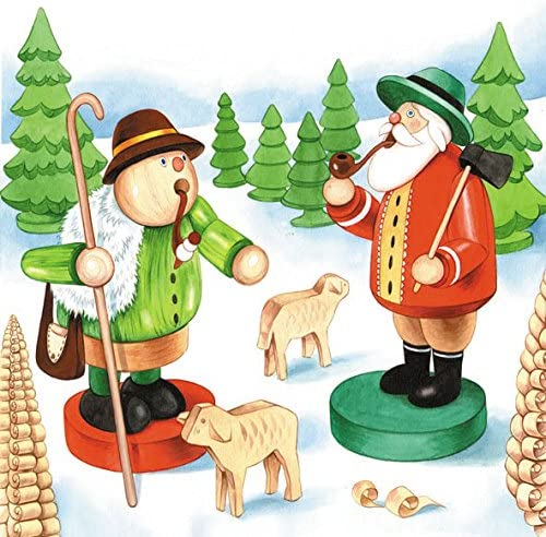 Papier Servietten R/äucherm/ännchen Lunch Party Fest Ca Weihnachten 33x33cm fuer Herbst Winter