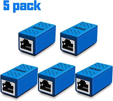 2 x RJ45 CAT5 Coupler Plug Network LAN Cable Extender Connector Adapter BSCA