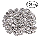 UKCOCO 100Pcs European Aluminum Extrusions Slim T-Nut M4 Thread (M4x10x6)