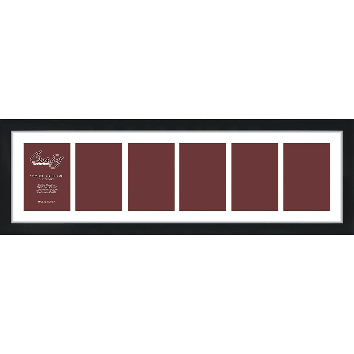 Amazon.com - Craig Frames 1WB3BK 9 by 32-Inch Black Picture Frame ...