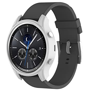 Amazon.com: Voberry Silicone Slim Smart Watch Case Cover For Samsung Gear S3 Classic (White): Beauty
