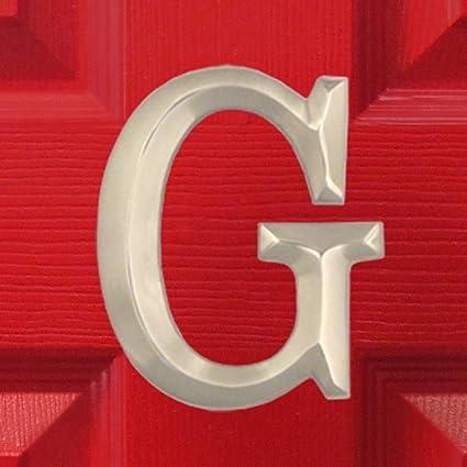 monogram letter g door knocker nickel silver amazon com