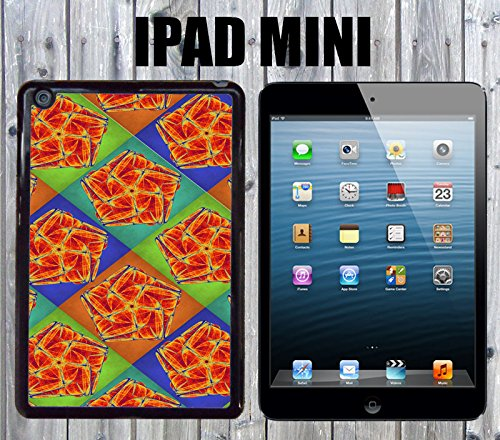Pentagon Mandala Colorful Pattern Custom made Case/Cover/skin FOR iPad Mini-Black- Plastic Snap On Case (Ship From - Pentagon Frame