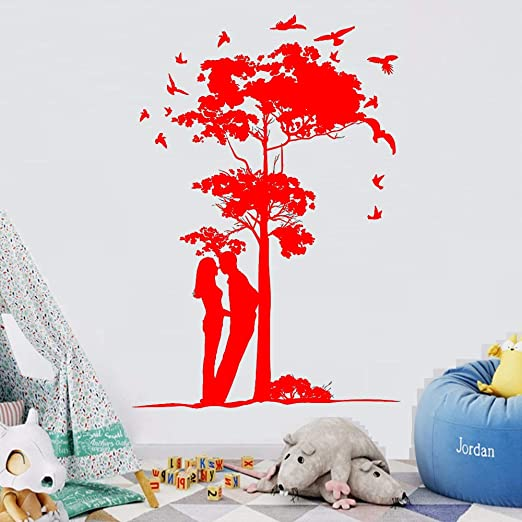 yaoxingfu Tatuajes de Pared de Vinilo Love S Boy and Girl Tree ...