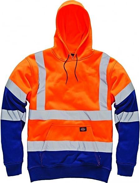 Dickies SA22095 ORNXL Sweat Capuche Taille XL OrangeBleu