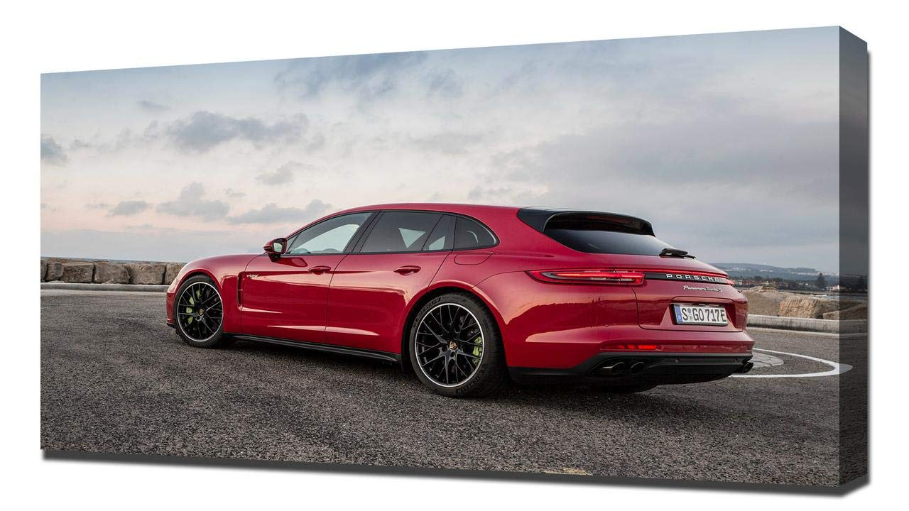 Amazon.com: Lilarama USA 2018 Porsche Panamera Turbo S E Hybrid V6 - Canvas Art Print - Wall Art - Canvas Wrap: Posters & Prints