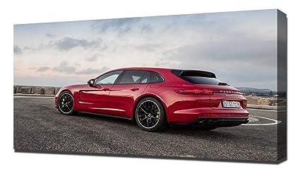 Lilarama USA 2018 Porsche Panamera Turbo S E Hybrid V6 - Canvas Art Print - Wall Art