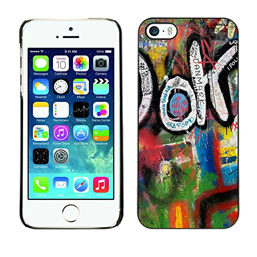 Premio Sottile Slim Cassa Custodia Case Cover Shell // V00002347 Graffiti // Apple iPhone 5 5S 5G