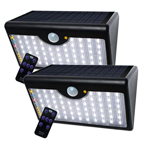 Foco Solar exterior LED Impermeable sensor de movimiento MKT 5 modos 1300 lúmenes Grados de Angulo