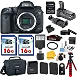 Canon EOS 7D Mark II DSLR Camera Body Only with W-E1 Wi-Fi Adapter, Battery Grip, Canon EOS Shoulder Bag 100ES, Tripod, Card Reader, Camera Flash, 2pieces 16GB Class 10 Memory Card, Extra Battery, 67mm U.V. Filter
