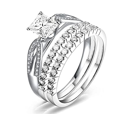 edbd3a9a865932 Image Unavailable. Image not available for. Color: Silvergemking 2 Carat  Diamond Trio Bridal Set on Closeout Sale ...