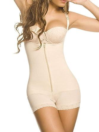 56f38e603 YIANNA Women Body Shaper Seamless Firm Control Shapewear Open Bust Bodysuit  Slimmer  Amazon.co.uk  Clothing