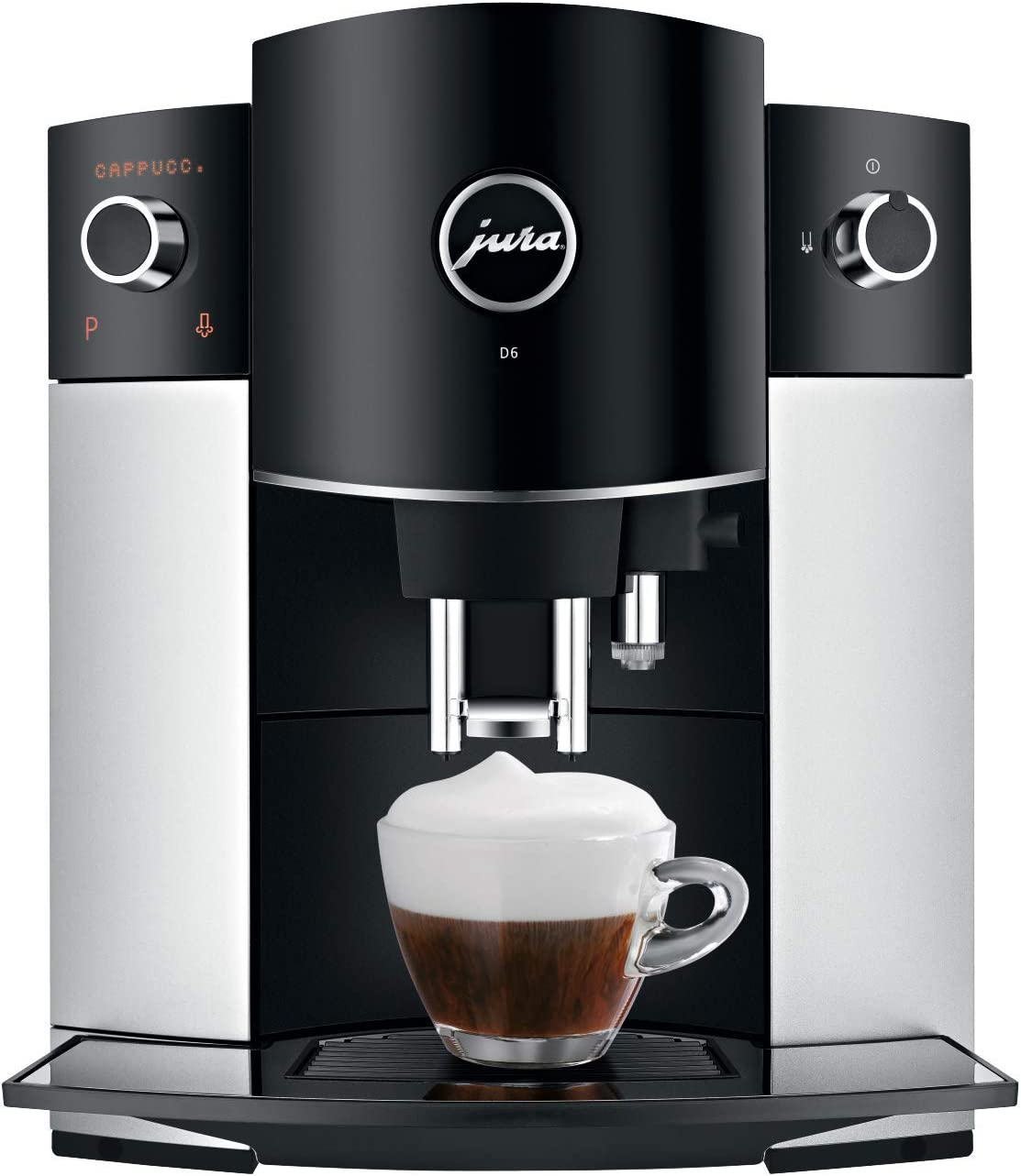 Jura 15216 D6 Automatic Coffee Machine, 1, Platinum