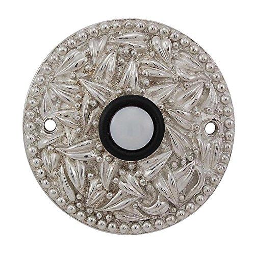 (Vicenza Designs D4013 San Michele Round Doorbell, Polished Nickel)