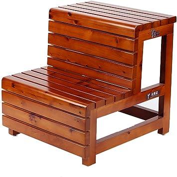 XMGJ Escaleras extensibles Taburete con escalones - Taburete con peldaños de madera Pedal de 2 capas Sala de estar Reemplazo de la cocina Zapato plegable Taburete plegable Escalera multifunción: Amazon.es: Bricolaje y