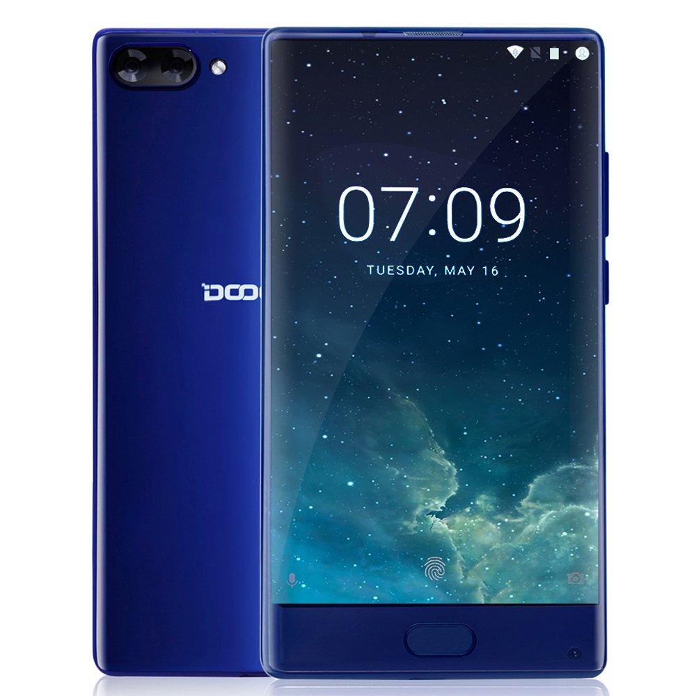 DOOGEE MIX - 6 GB + 64 GB Smartphone 4G 5.5 Pollici - Super AMOLED - Android 7.0 - Helio P25 - Octa Core 2.5GHz - Corpo del Metallo - 8MP 16MP + Dual Camera Posteriore - Sensore Anteriore di Impronte Digitali- Dual SIM - Doppio Telecamere Posteriori - 3580mAh con Ricarica Rapida