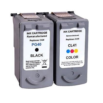 lic-store 2 x (1 negro + 1 tricolor) cartucho de tinta PG-40 PG40 ...