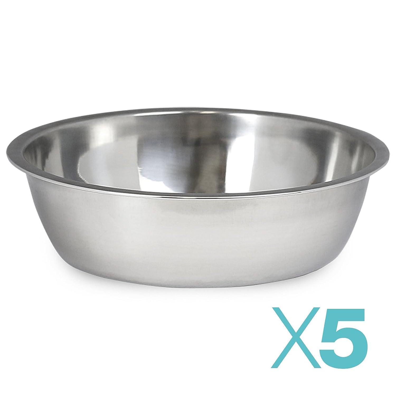 Ciotola per Cibo//Acqua in Acciaio Inox Me /& My Pets Confezione da 5 Varie Misure