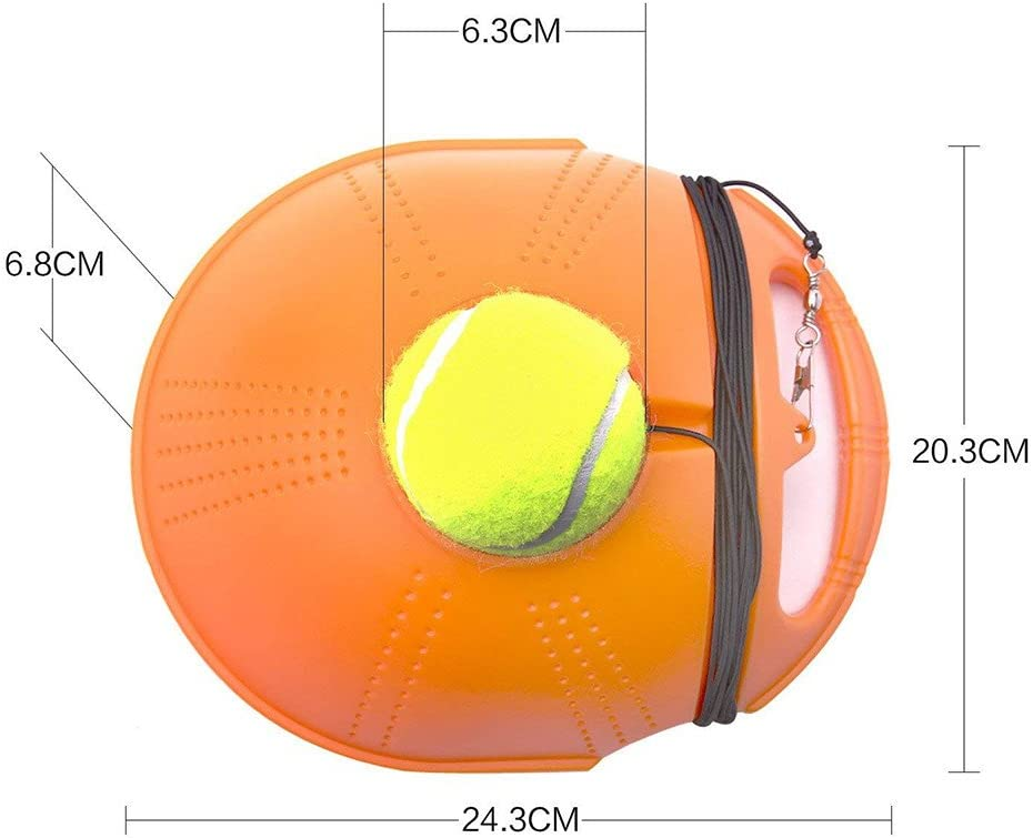 Airpow Childrens Tennis Trainer Blue Self-Study Practice Tennis Set with Plastic Tennis Rackets Tennis Training Equipment for Kids Beginner Aged 3+ Singles Training Tennis Training Set