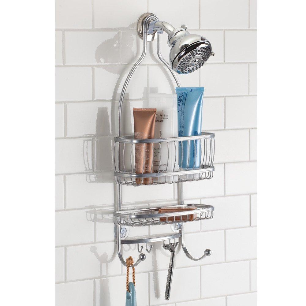 Amazon.com: InterDesign York Lyra - Bathroom Shower Caddy Shelves ...