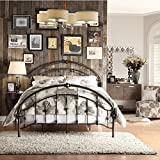 Lacey Round Curved Double Top Arches Victorian Iron Metal Bed (Full)