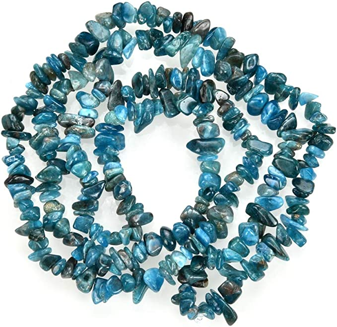 22 Beads O1203 9mm 7.8 Precious GemsFine Grade~Genuine Un-Treated Rich ELECTRIC BLUE APATITE Stretch Bracelet