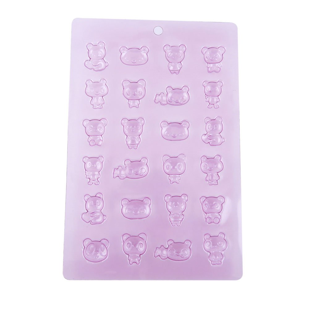 100 PCS Chocolate Molds Baby Shower Candy Making Supplies Jelly Maker Wholesale TF061 Bears