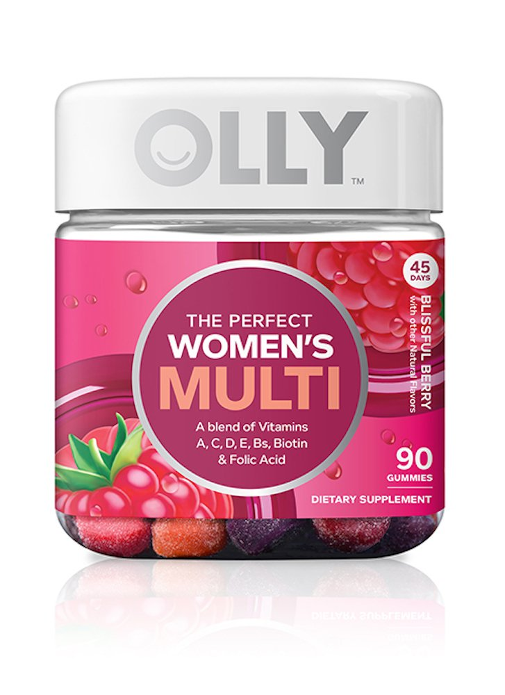 Olly Perfect Women's Multivitamin Gummy Supplement, with Biotin & Folic Acid, Blissful Berry, 90 count (45 Day Supply)