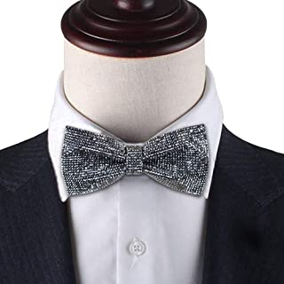 Dark Grey bow tie, Dark Grey Rhinestones bow tie, Dark Gray bow tie for men, Dark Gray Sparkle bow tie, Dream Up Idea, 26