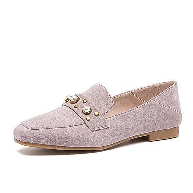 Frühling Flach Schuh Flache Mund Schuhe Schuhe Atmungsaktive Casual Schuhe Studenten Kleine Lederschuhe, Weiß, 37 WXMDDN