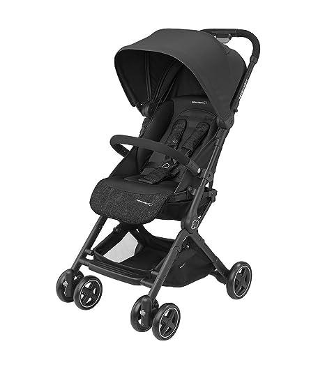 Bébé Confort LARA Nomad Black - Cochecito ultra compacto, desde el nacimiento hasta