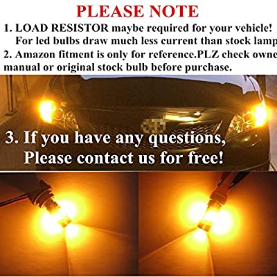 Alla Lighting 7443 7444NA T20 LED Switchback Xtremely Super Bright Dual Color White Yellow (Amber) High Power 2835 28-SMD LED Bulbs for Replacing Turn signal Light Lamps (7443): Automotive