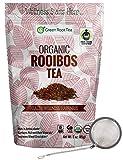 Organic Rooibos Tea - Fair Trade Certified Red Tea - Caffeine Free (56 Servings) - Green Root Tea (6 oz. Bag)