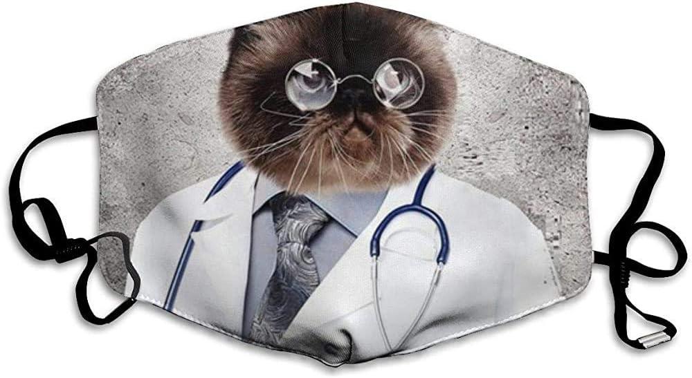 Doctor Divertido Gato mascarilla Reutilizable Moda Antipolvo máscaras faciales