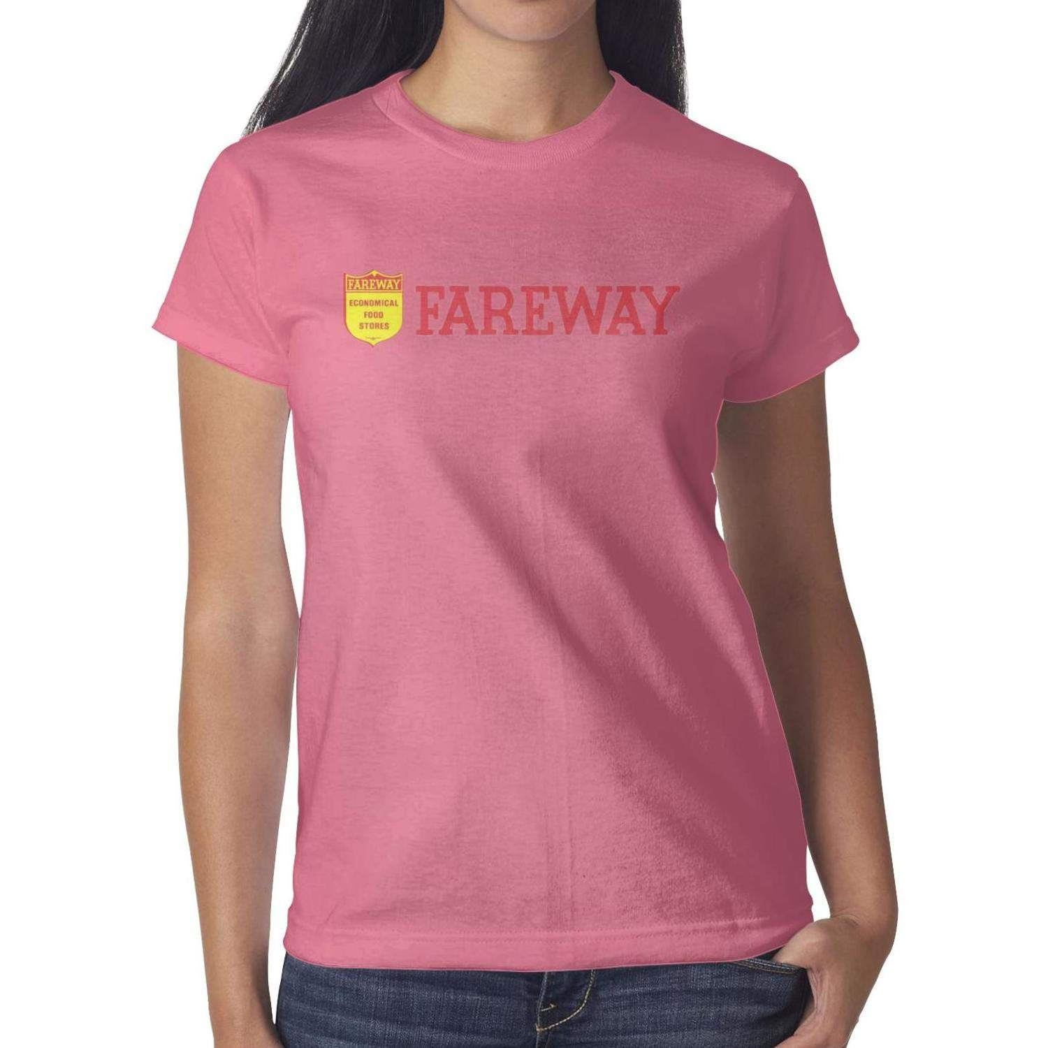 Fareway Celebrates New Store Opening in Des Moines Womens Short Sleeve T Shirt Cotton Simple Shirt Sports Summer Soft and Comfortable Round Neck Tops by ookandua