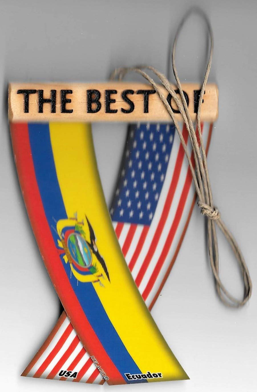 Ecuador and USA Ecuadorian American Flag Rear View Mirror CAR Flags Mini Banners for Inside The CAR UFLAGZ