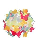 MiniSun - paralume bello e moderno con motivo di farfalle multicolorate - per lampada a sospensione