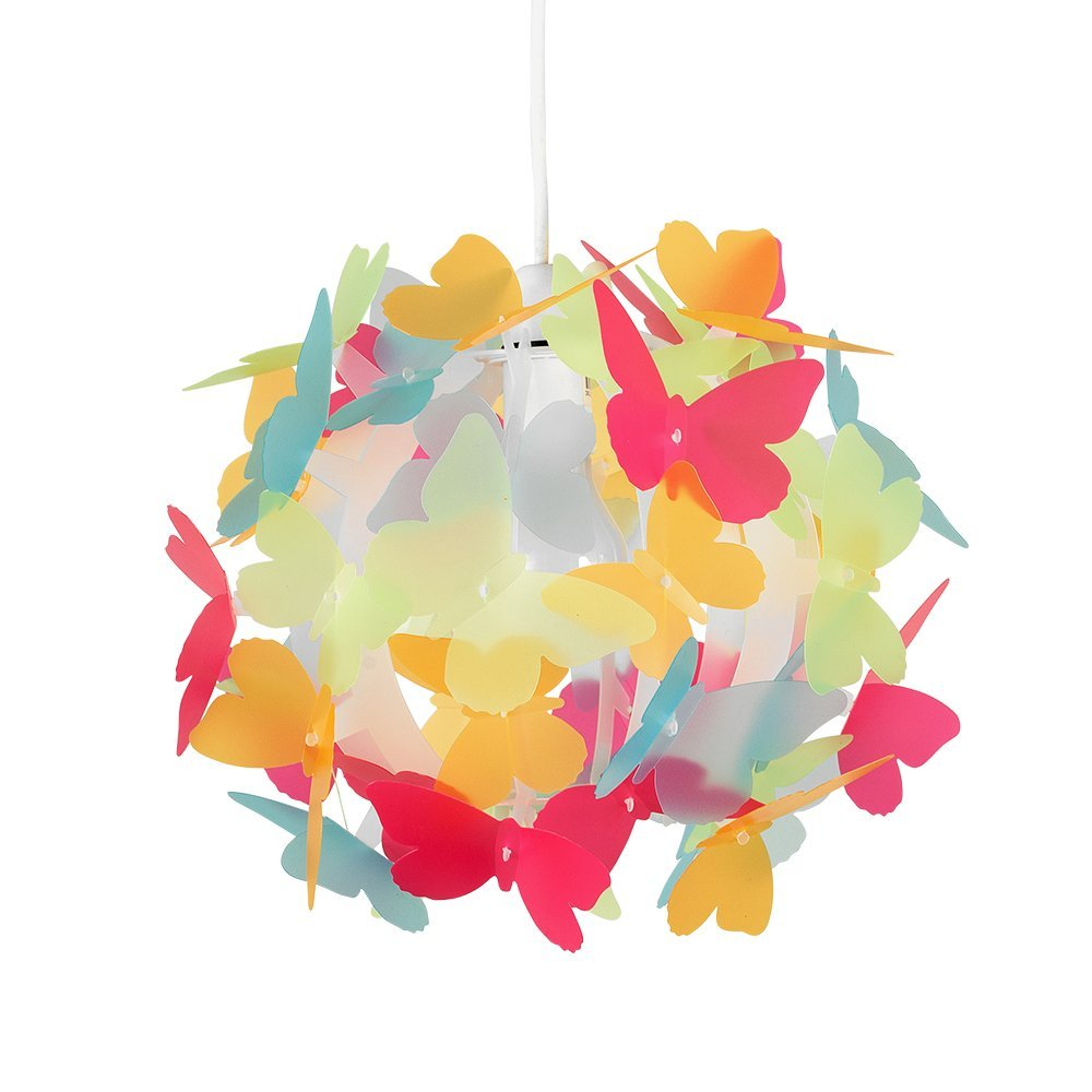 Minisun   paralume bello e moderno con motivo di farfalle ...