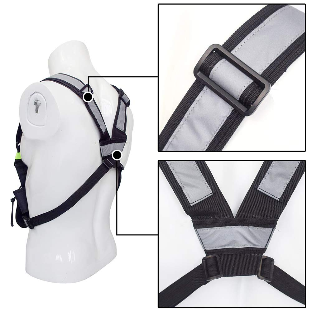 Tractical Front Pack Pouch Holster Vest Rig Chest Bag Holder for Two Way Radio Walkie Talkie Radio Chest Harness Rescue Essential for Men Women Hiking Camping Universal Radio Carry Case