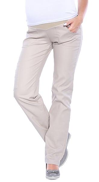 22e07cad81251 Mija - Maternity Comfortable Trousers Cargo Over Bump 3017: Amazon ...