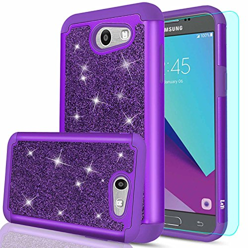 tter Case with HD Screen Protector for Samsung Galaxy J3 Prime/ J3 Emerge/ Express Prime 2/ Amp Prime 2/ J3 Mission/ J3 Eclipse/ J3 Luna Pro/ Sol 2/ J3 2017 TP Purple ()